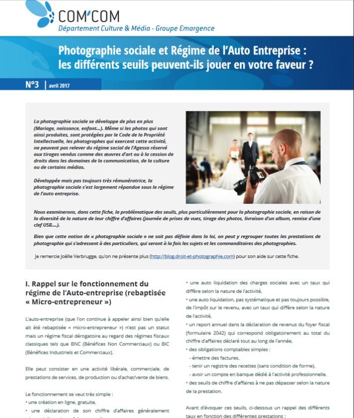 Auto Entrepreneurs Et Photographie Sociale Comment Declarer Les